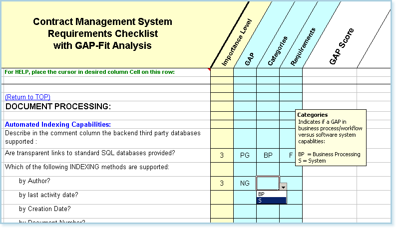 Contract Management System : Contract management software requirements with fit gap