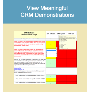 CRM System Demonstration Scripts