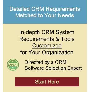 Custom CRM Software Requirements