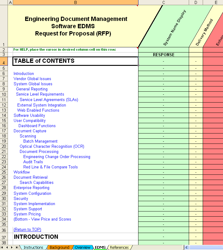 Edms Software Evaluation & Selection: Engineering Document