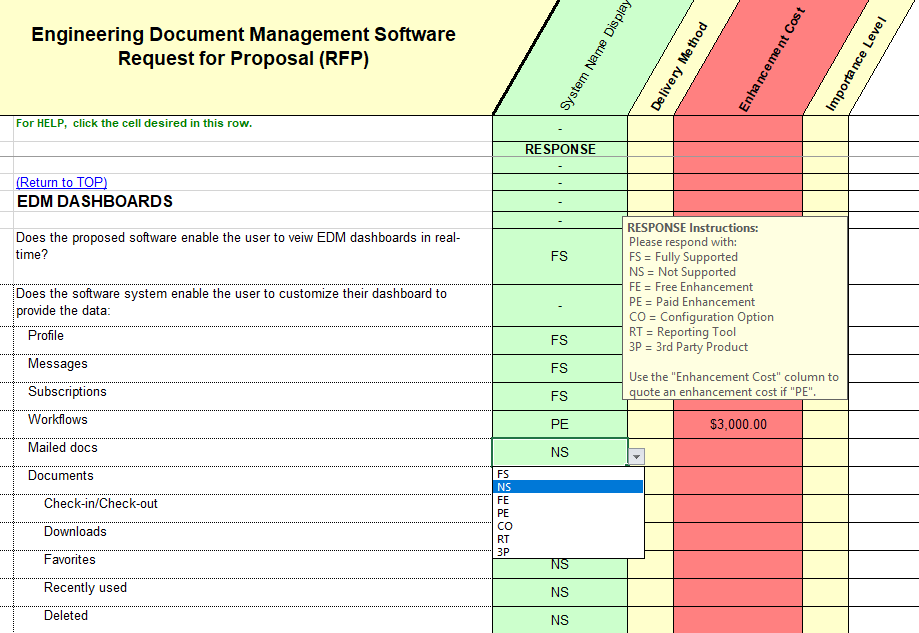 engineering document management software selection rfp With engineering document management software