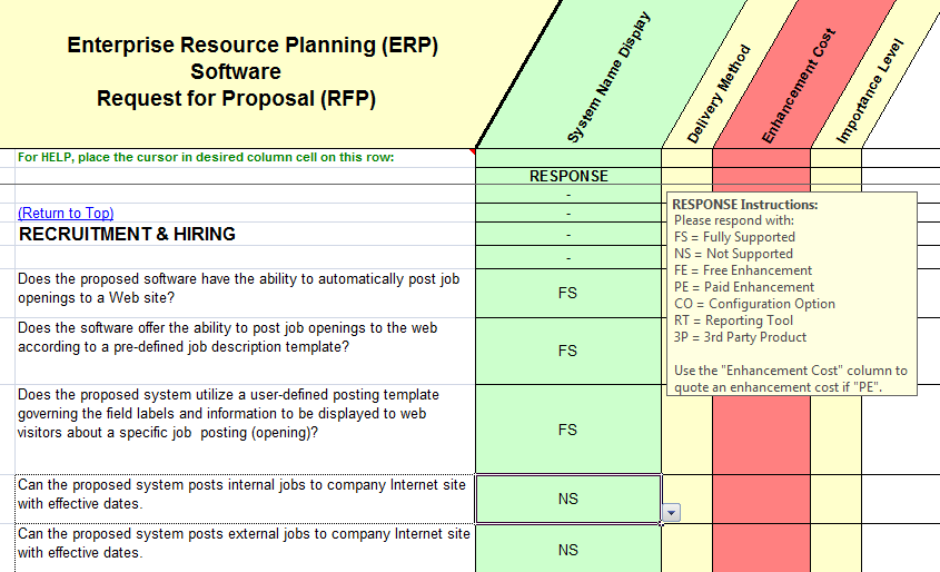 Eto Erp Selection Tools Rfp For Engineer To Order Software