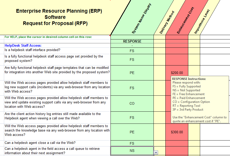 electronic data interchange sample questions from the erp rfp master template