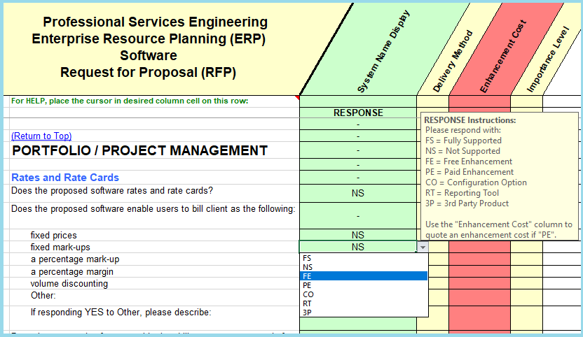 Project costing sample questions