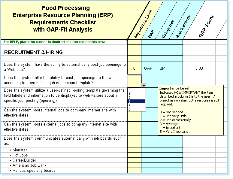 food processing requirements questions