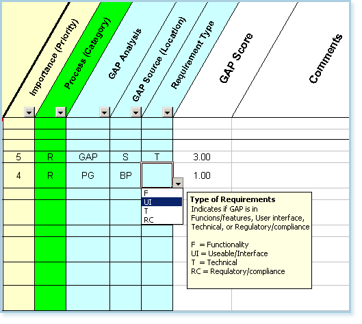 Requirements Identification - Fit/Gap Analysis