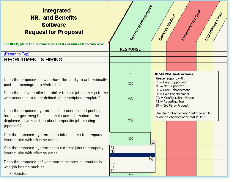 Scorecard Templates: System Comparison   Software Evaluation   RFP Templates