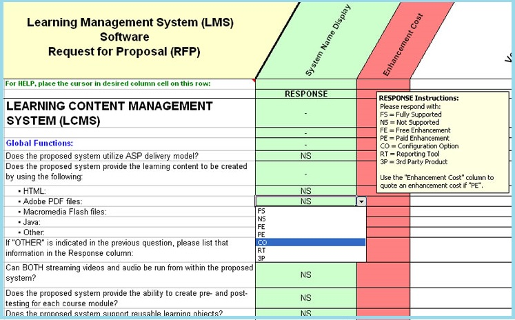 LMS Software Selection: Learning Management - RFP Template