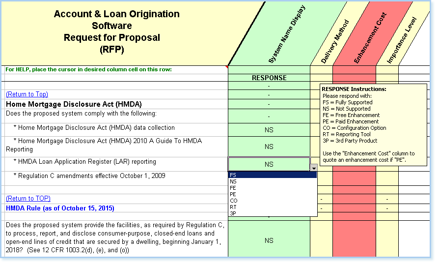 RFP sample of questions taken from the engineer-to-order quality, assurance and control section