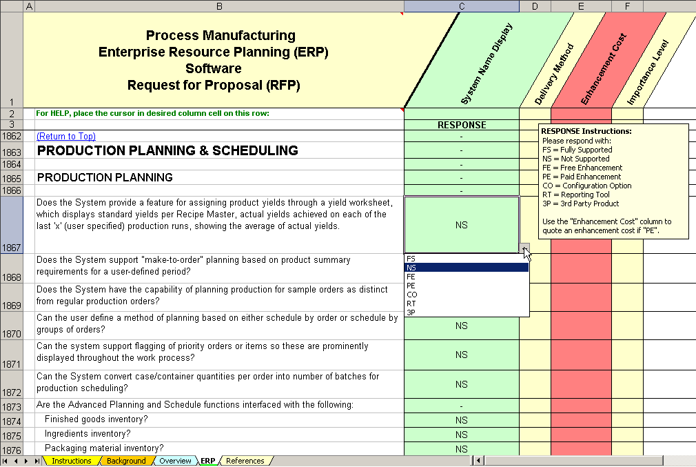 Erp Software Evaluation Selection Process Manufacturing Erp System