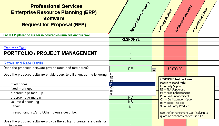 professional erp software evaluation selection