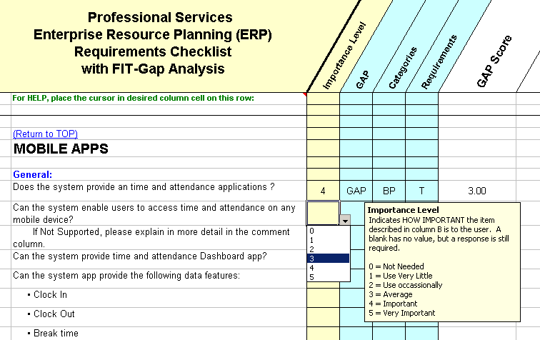 PSA ERP Mobile Application Sample Questions