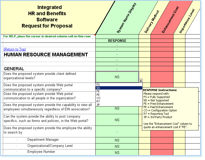 Hr Proposal Template. hr pr software rfp human resource payroll ...