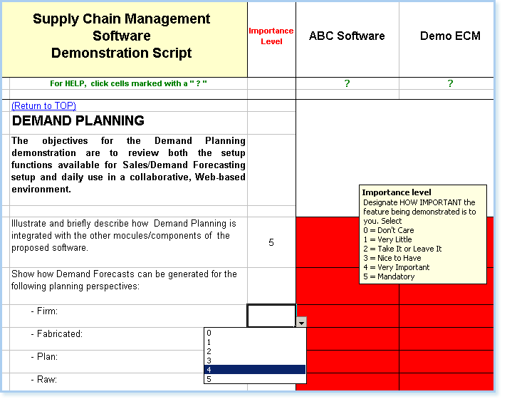 showing question on demand planning